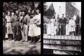 Jean Gosset et ses élèves dans le parc du Lycée - Vendôme (1941)