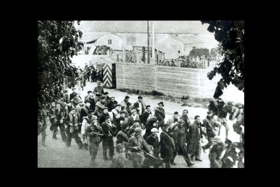 Déportés au camp de Compiègne Royallieu