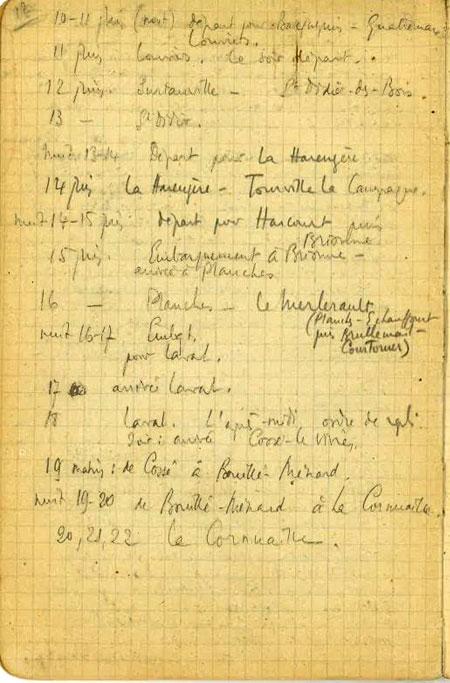 Extrait d'un journal retrouvé de Jean Gosset
