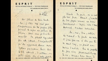 Lettre d'Emmanuel Mounier - Mars 1938