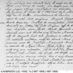Acte de décès Nicolas Gosset -1868