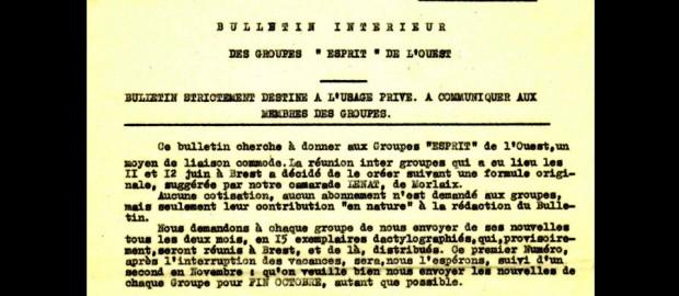 Bulletin intérieur Groupes Esprit Ouest