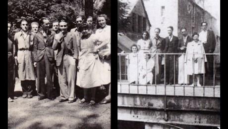 Jean Gosset et ses élèves dans le parc du Lycée de Vendôme - 1941