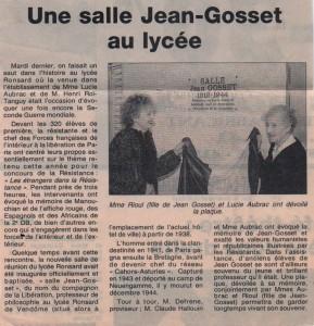 Salle Jean Gosset au lycée de Vendôme