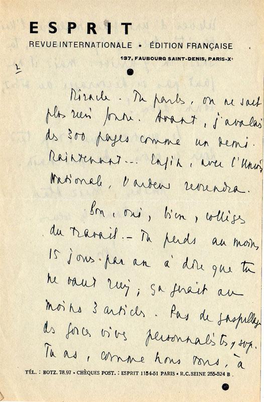 Lettre d'Emmanuel Mounier - Mars 1938 - 2