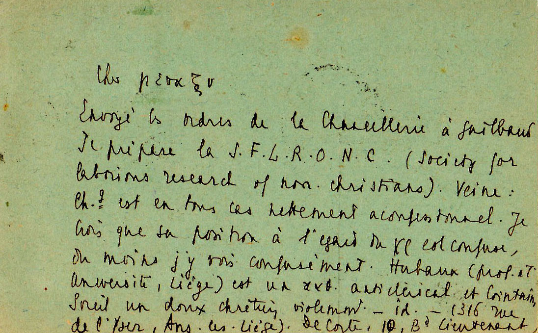 Carte d'Emmanuel Mounier à Jean Gosset - 10 juillet 1937 - 2