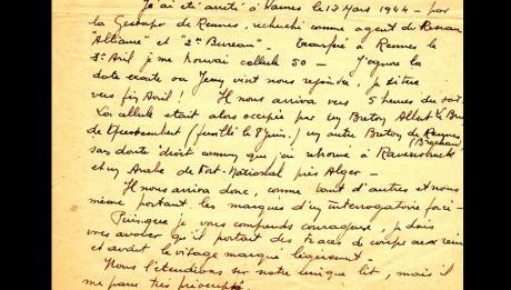 Témoignage d'Auguste Vigouroux - 1946