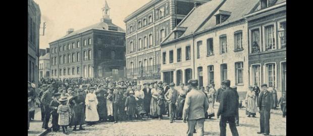 Sortie des usines Seydoux au Cateau